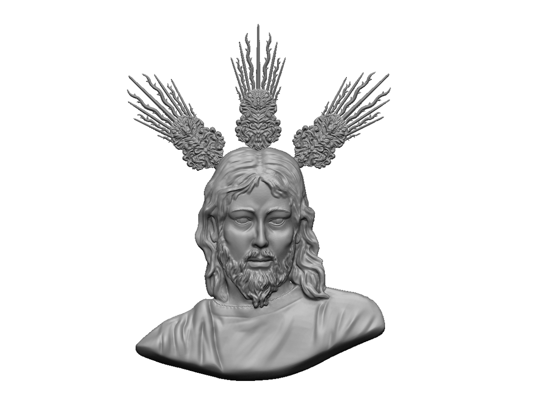 3D model relief medal jesus