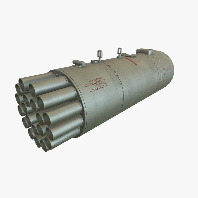 rocket launcher b-8v20a 3D