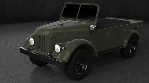 1970 gaz-69a 3D model