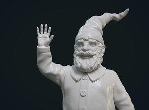 3D print ready garden gnome