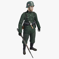 3D german soldier
