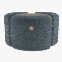 russian ushanka hat 3D model