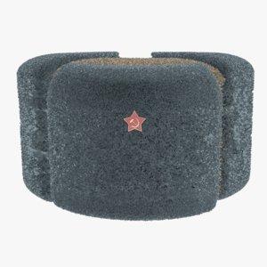 russian ushanka hat 3D model