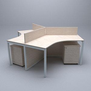 workstation office 3D model