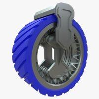 plastic wheel vehicles 3D model