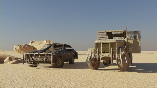 post apocalyptic truck car model