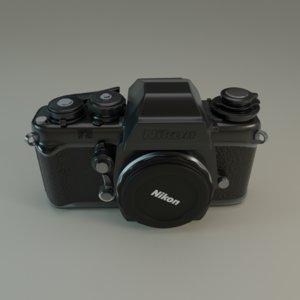 3D nikon camera model