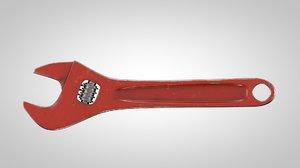 3D adjustable spanner wrench model