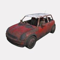 3D car abandoned