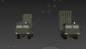 3D vityaz s-350 anti-aircraft missile