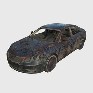 car abandoned 3D