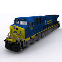3D csx locomotive hopper model