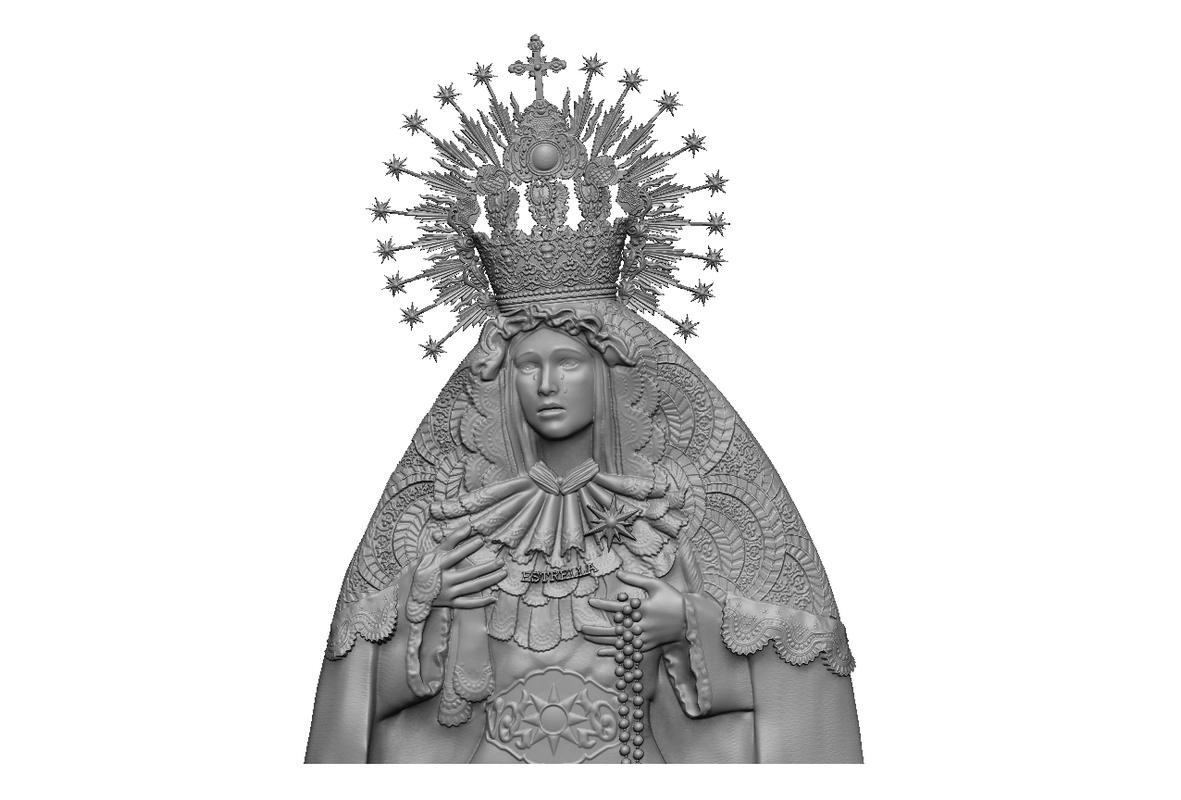 relief virgen la estrella 3D model