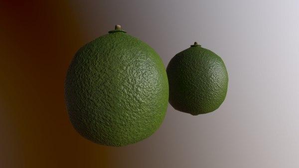3D lime 2 model