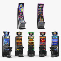casino slot machines 3 3D model