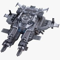 sci-fi spaceship 3D