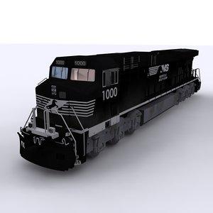 norfolk ge locomotive 3D model