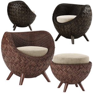 la luna armchair 3D model