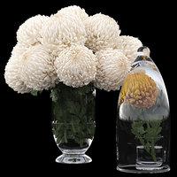 3D chrysanthemum flowers bouquet