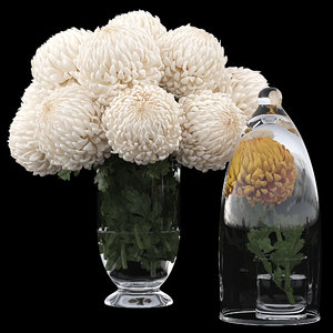 3D chrysanthemum flowers bouquet