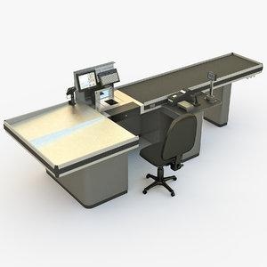 3D cash tills model