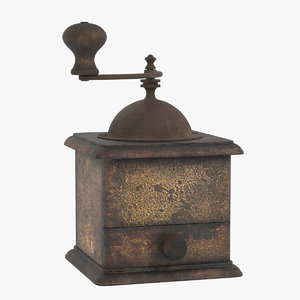 vintage coffee grinder 3D