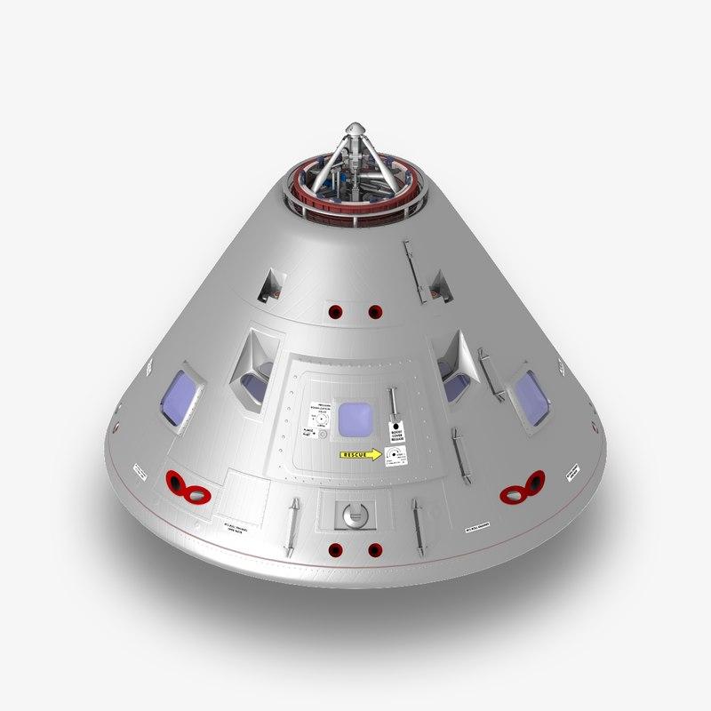 apollo command module 3D model