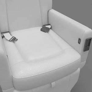 chair airplane 3D