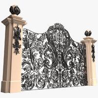gate column 3D model