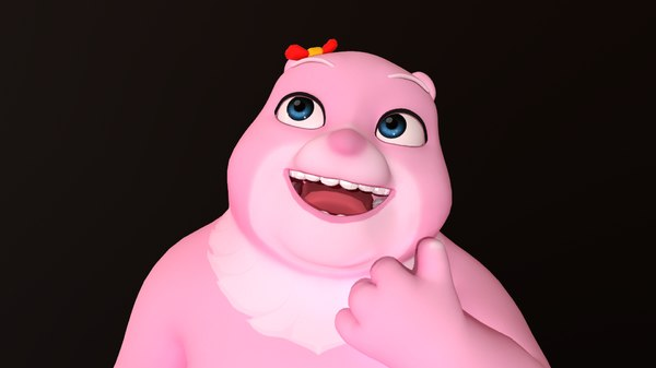 bear pink - hight model