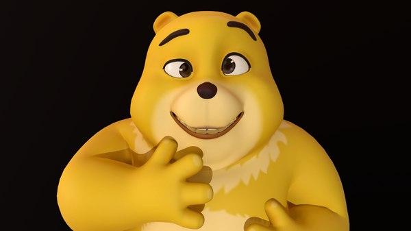 bear yellow - rig 3D model