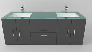 3D bathroom vanity