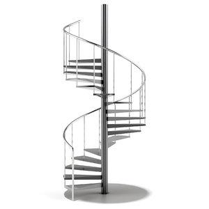 3D spiral stair model