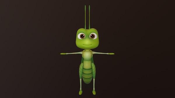 3D locust - hight rig model