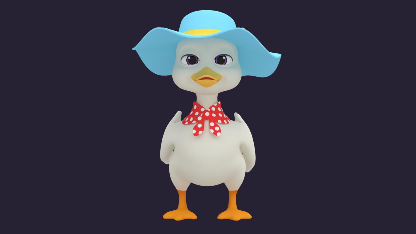3D duck - hight animal