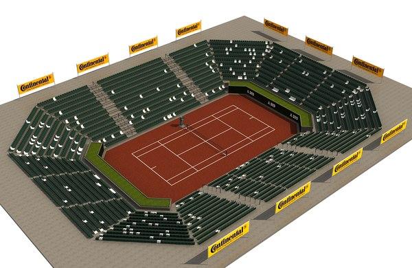 outdoor tennis court 3D model