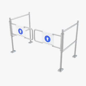 swing gate supermarket 3D
