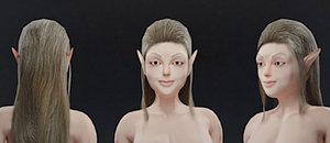 3D elf normal maps model