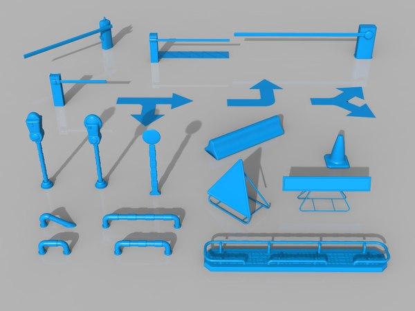 3D street stuff - 19 model