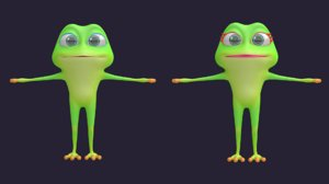 3D frog - hight animal