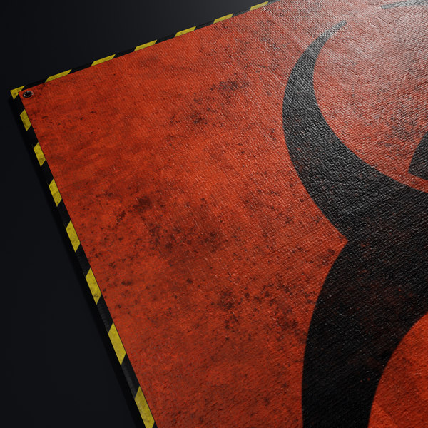 3D tarpaulin biohazard radiation