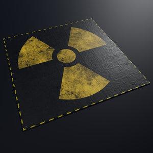 3D model tarpaulin radiation