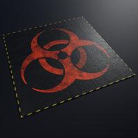 3D tarpaulin biohazard