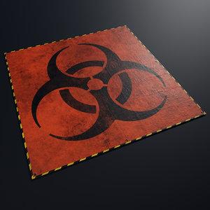 tarpaulin biohazard 3D