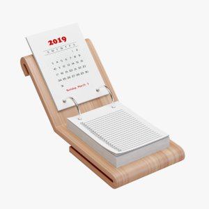 desk calendar 3D model
