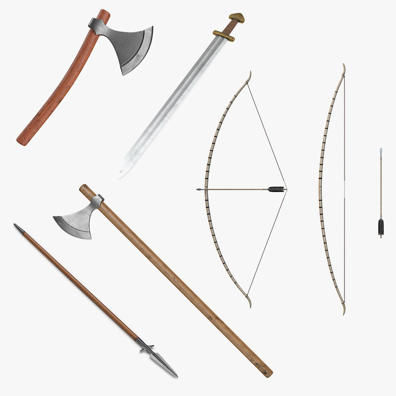 3D viking weapons 3 model