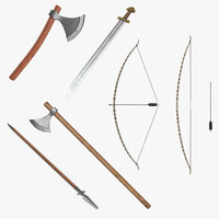 Viking Weapons 3D Models Collection 3