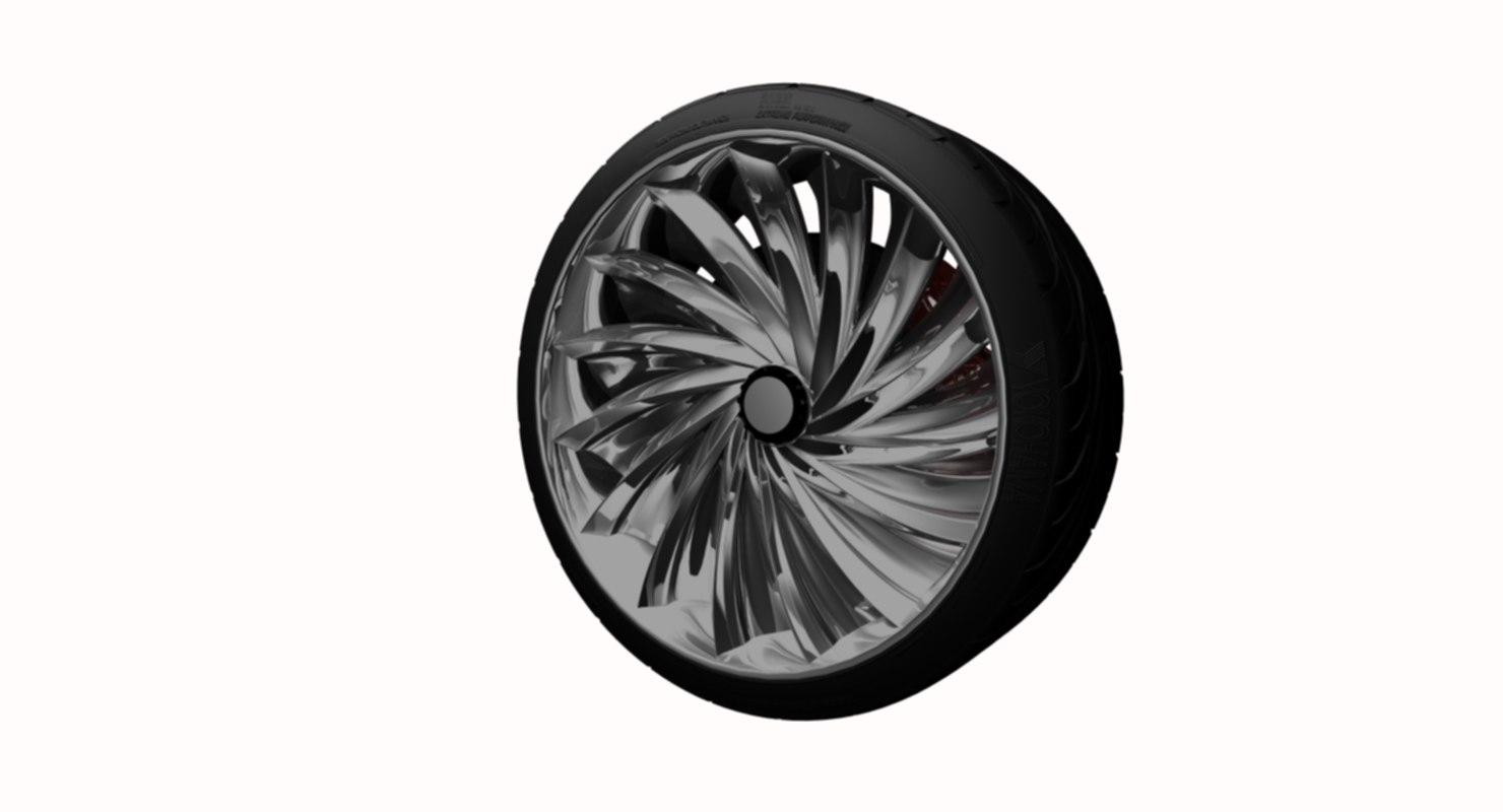 3D rim chrome wheel