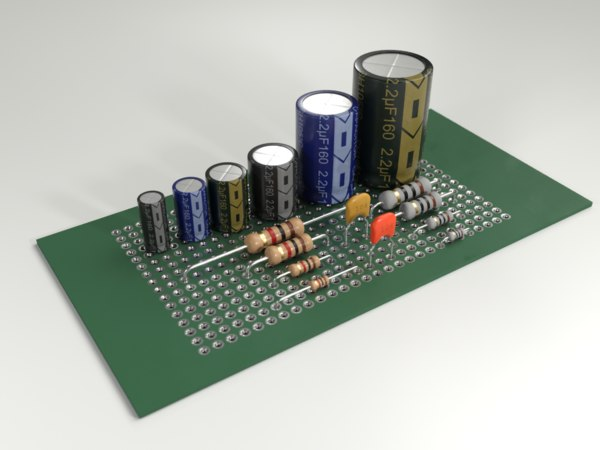 resistor electronic 3D model