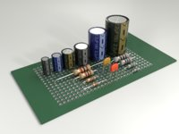 Electronic components (resistors and capasitors)